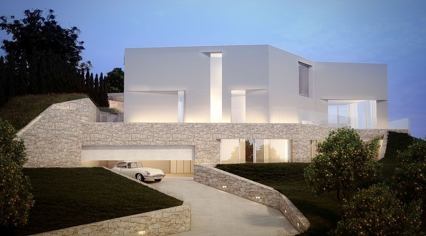 one_off_villa_frontline_sea_new_build_javea_alicante_street_view_1